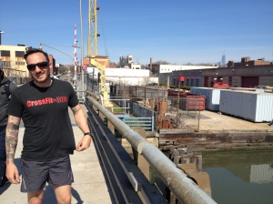 "Joe on the Third Street Bridge being all, ""dude, this is stupid""."