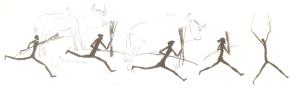 Pictograph of Runners cited by Heinrich in Why We Run
