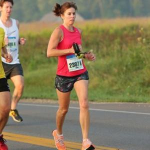 Cindy at the Emerald City ¼ Marathon in Dublin, Ohio