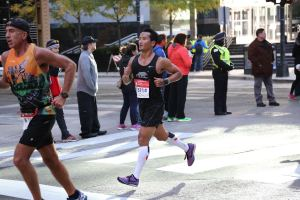 Bob getting his BQ at Chicago!