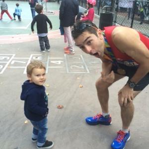 Daddy, run!