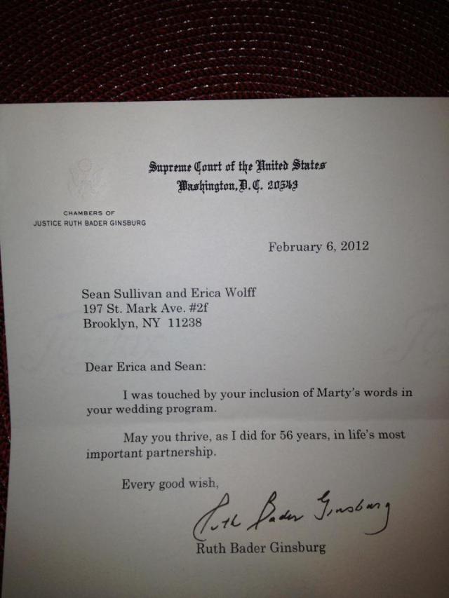 RBG letter