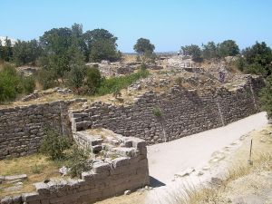 the walls of ancient troy